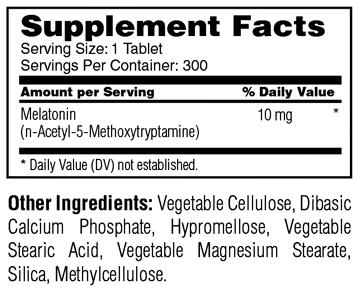 Melatonin 10 mg - TR Time Release - 300 Tablets