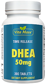 DHEA 50 mg - TR Time Release - 300 Tablets