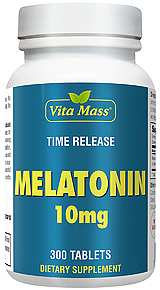 Melatonin 10 mg - TR Time Release - 300 Tablets
