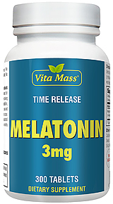 Melatonin 3 mg - TR Time Release - 300 Tablets