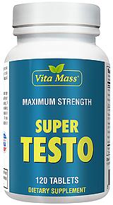 super testo - maximum strength - 120 tablets